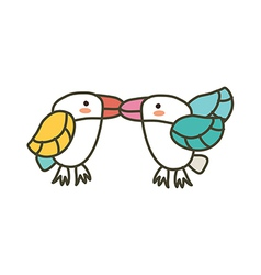 The parrots vector