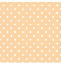 Tile pattern white polka dots on coral background vector image