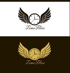 Time flies wings vector