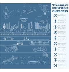Transport infographics elements Cars trucks public vector