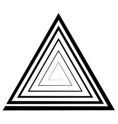 triangular spiral a maze optical vector image