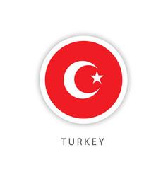 Turkey circle flag template design vector