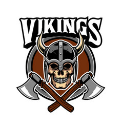 Viking skull army vector