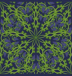 vine leaves on a dark blue background image vector image