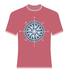 vintage compass rose t-shirt vector image