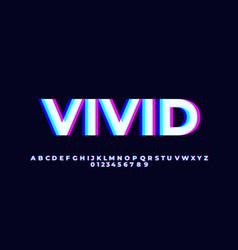 White vivid light font style design templates vector
