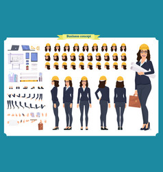 Woman architect in business suit vector