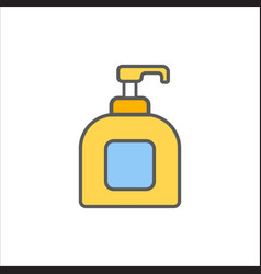 Women lubricating gel or female lubricant icon vector