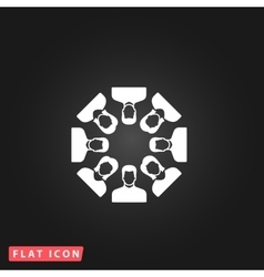 Work team concept vector