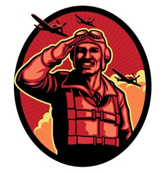World war pilot vector