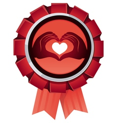 award for charity organisation vector image vector image