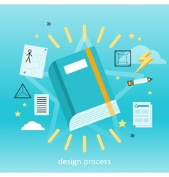 Design Process Concept vector image vector image