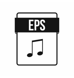 EPS file icon simple style vector image vector image