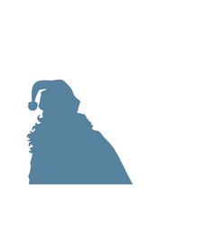 Santa claus silhouette copy space background vector