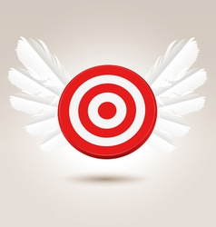 Target with wings vector image vector image