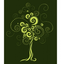tree shape from twirls vector image vector image