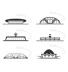 Airport buldings vector image vector image