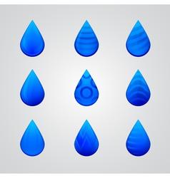 blue drop icon vector image vector image