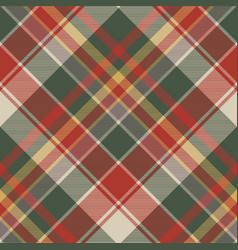 classic check tartan diagonal seamless fabric vector image