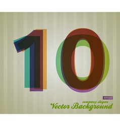 Color Transparency Symbol 10 vector image vector image