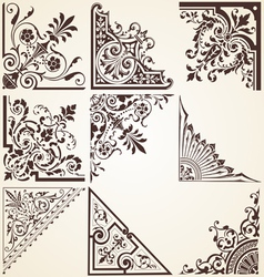 Decorative ornamental corners vector