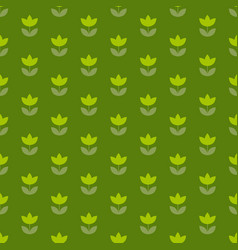 grass green color holland tulip repeatable motif vector image vector image