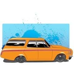 OrangeWagon vector image vector image
