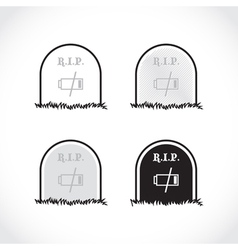 RIP coffin set vector image vector image