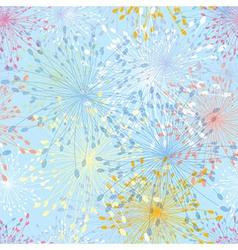 Seamless pattern dandelion flower vector image vector image