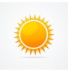 Set of glossy sun vector image