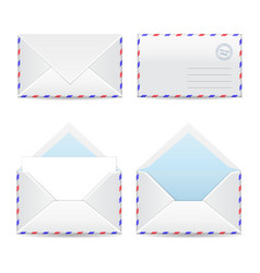 Set of white envelopes vector image