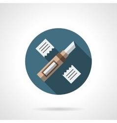 Floor repair round flat icon vector