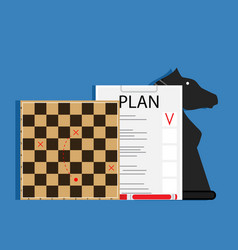 strategic business plan vector image vector image