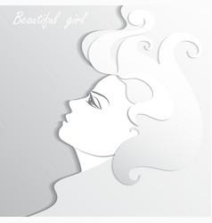 Woman profile beauty vector image vector image