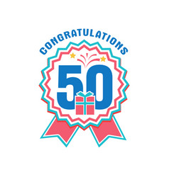anniversary fifty years number vector image vector image