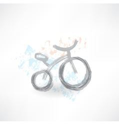 bicycle grunge icon vector image