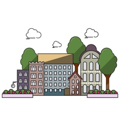 Flat town vector image