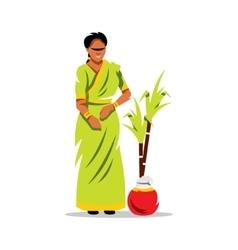 Happy Pongal Cartoon vector image