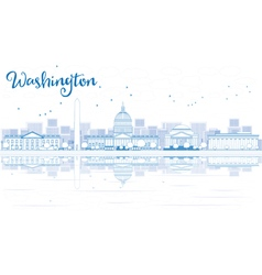 Outline Washington DC City Skyline vector image vector image