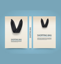 Paper bag cover shopping advertising banner a4 vector