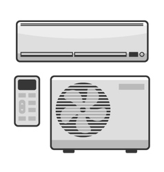 Air Conditioner Set on White Background vector