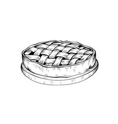apple pie coloring book vector image