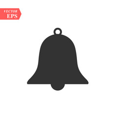Bell icon in trendy flat style isolated on grey vector