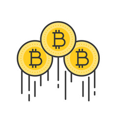 Bitcoins rising price vector