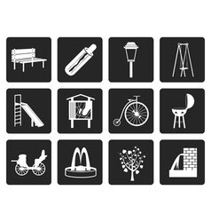 Black Park objects and signs icon vector