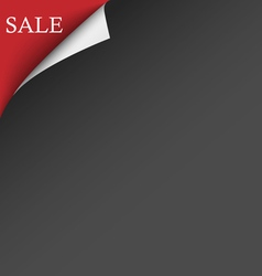 Black red sale corner background vector