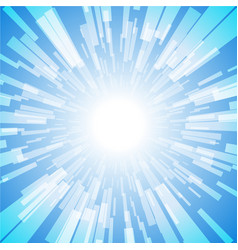 blue burst ray light stripe vector image