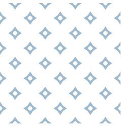 Blue geometric seamless pattern with diamond vector