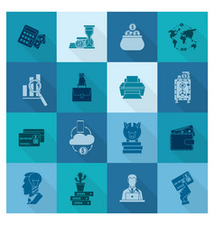 Business and finance icon set vector