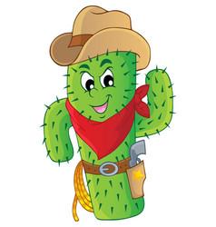 Cactus theme image 3 vector